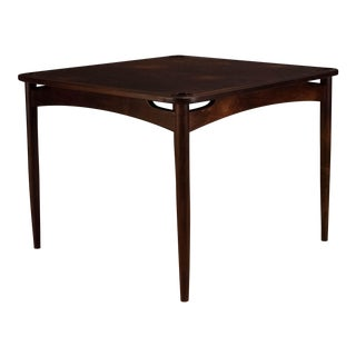 1960s Mid-Century Modern Sergio Rodrigues Rosewood Norma Game Table For Sale