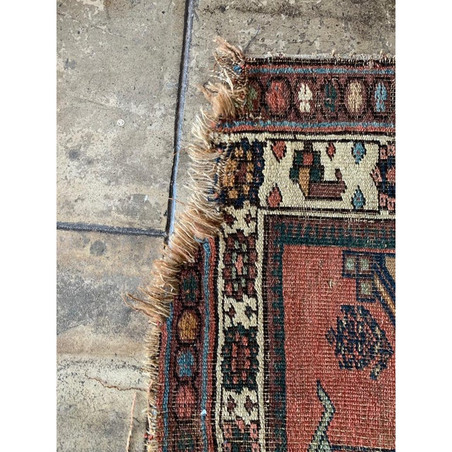 """Geometric Antique Turkish Runner - 12' 4"""" X 3' 8.5"""" For Sale - Image 9 of 10"""