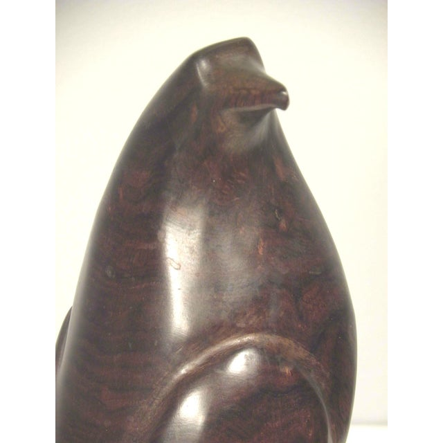 Mid Century Hand Carved Wood Bird Sculpture - Image 4 of 7