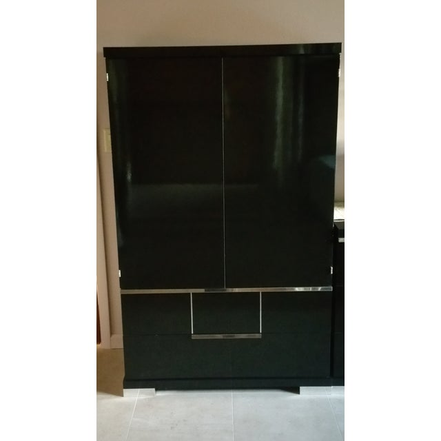 Vintage, Luxe Modern Italian Armoire, Media Unit - Image 2 of 10