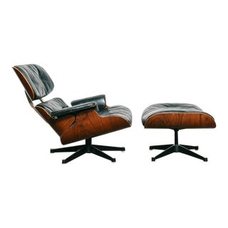 "1st Generation Eames Lounge Chair + Ottoman (European ""Hille"" Version)"