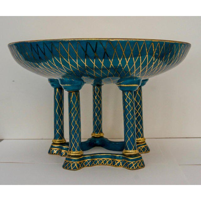 Belle Epoque Antique French Porcelain Compote For Sale - Image 3 of 13