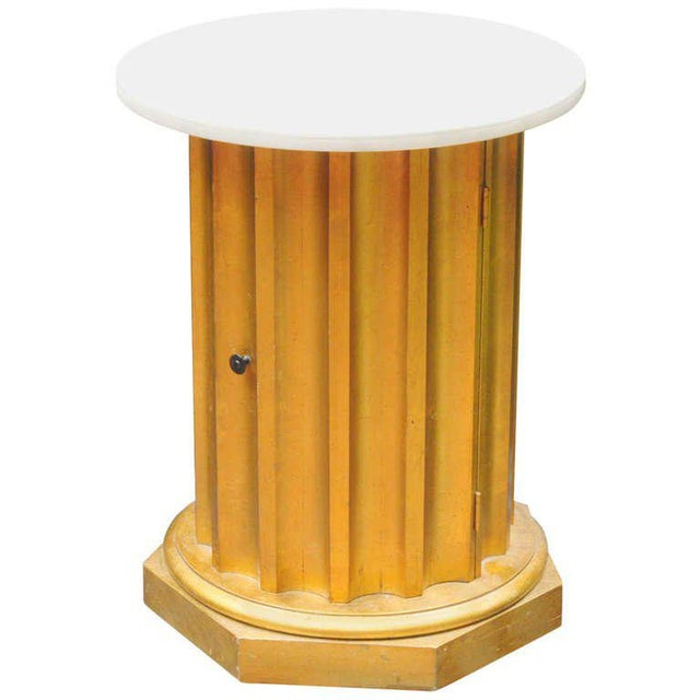 Marble Column Side Table For Sale - Image 11 of 11