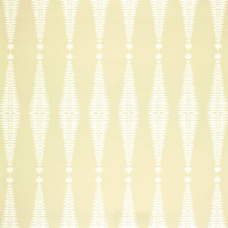 Sample - Schumacher Fern Tree Wallpaper in Bone For Sale