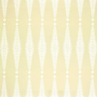 Sample - Schumacher Fern Tree Wallpaper in Bone For Sale