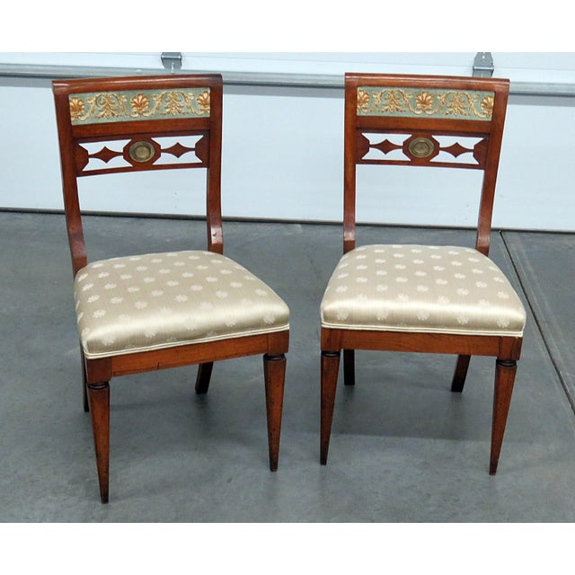 Early 20th Century Antique Austrian Side Chairs- A Pair For Sale - Image 9 of 9