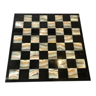 Marble and Onyx Chess Board For Sale