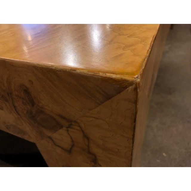 Thayer Coggin Monumental Milo Baughman Burlwood Coffee Table For Sale - Image 4 of 10
