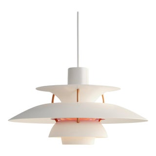 Poul Henningsen 'Modern White' PH5 Mini Pendant for Louis Poulsen For Sale