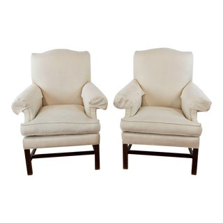 Lexington Upholstered Armchairs - a Pair For Sale