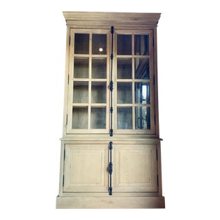 French Casement Double Door Sideboard & Hutch For Sale