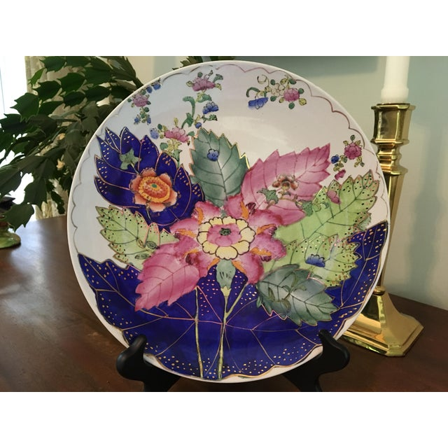 Vintage Hand Painted Tobacco Leaf Decorative Plate For Sale - Image 4 of 13