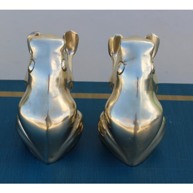 Brass Frog Bookends - A Pair - Image 5 of 5