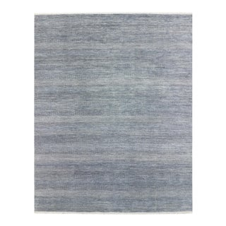 One-Of-A-Kind Contemporary Handmade Area Rug, Denim, 8' 3 X 10' 4 For Sale