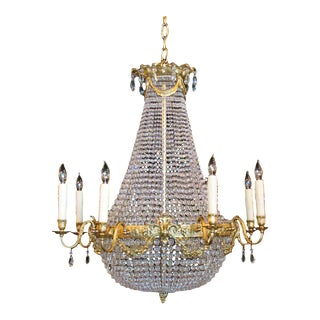 French Empire Basket Chandelier For Sale