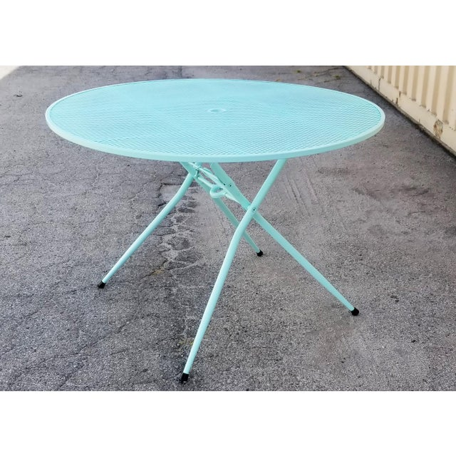 Rid-Jid Steel Outdoor/Patio Dining Table With Chairs Set For Sale - Image 4 of 8