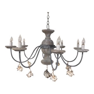 Seaside 8 Light Tower Chandelier For Sale