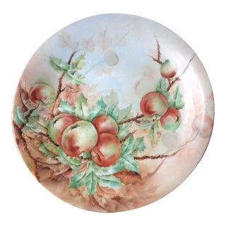 Antique 1900s Limoges Hand Painted Porcelain Charger For Sale