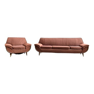 Mid-Century Sofa and Chair Set For Sale
