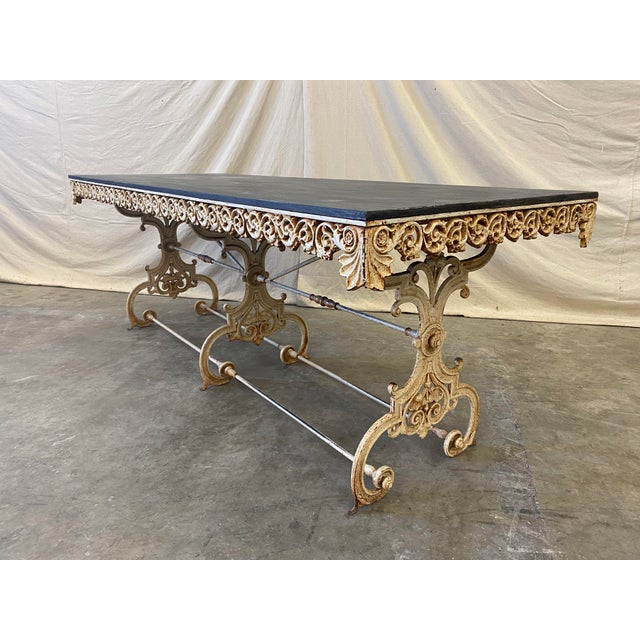 French Pastry Table With Iron Base - 19th C For Sale - Image 12 of 12