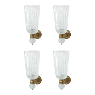 Set of Four Barovier and Toso Wall Lights, Italy For Sale