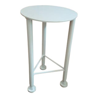 Custom Made Iron Side Table For Sale