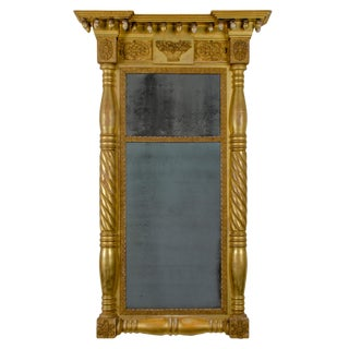 American Empire Pier Mirror, 19th Century For Sale