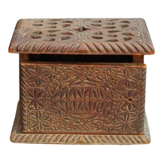 Continental Friezian Carved Foot Warmer, 18th C. For Sale