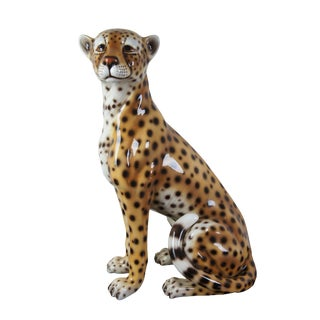 Intrada Safari Cheetah Ceramic Seated Figure For Sale