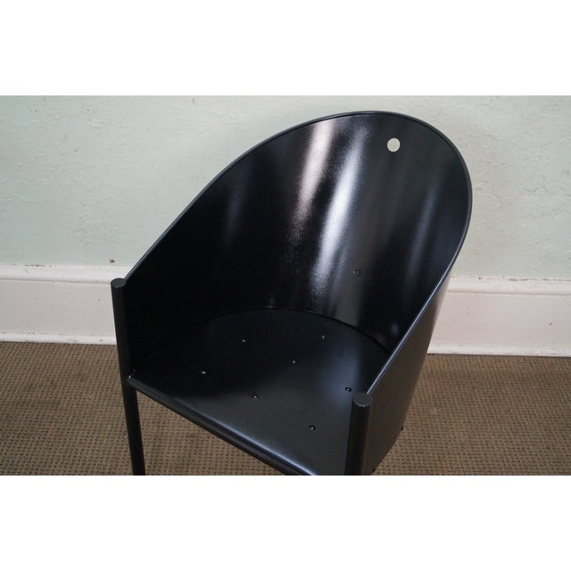 Philippe Starck Aleph Black Metal Chairs - A Pair - Image 6 of 9