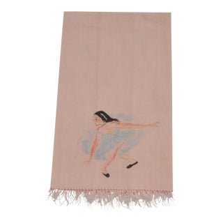 Painted Pink Ballerina Hand Towel For Sale