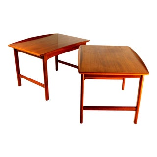 1960s Scandinavian Modern Teak Side or End Tables by Folke Ohlsson for Dux - a Pair For Sale