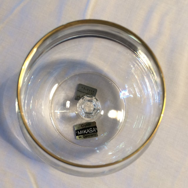 Gold Crystal Gold Rim Brandy Snifters by Mikasa West Germany - a Pair For Sale - Image 8 of 11