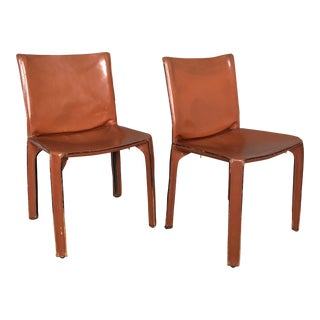 Mario Bellini for Cassina Cab 412 Chairs - a Pair For Sale