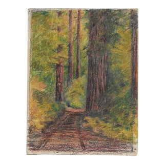 1920s Redwood Forest Drawing Harnett For Sale