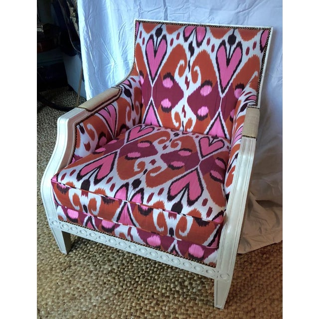 Ikat Upholstered Oly Studio Tobias Chair Set For Sale - Image 9 of 9