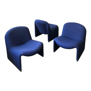 """1960s Swedish Modern Giancarlo Peretti for Castelli """"Alky"""" Chairs - Set of 3 For Sale"""