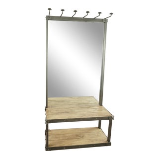 Shabby Chic Restoration Hardware Coat Rack Bench With Mirror