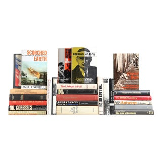 Mid Century European Book Collection - Set of 25 For Sale