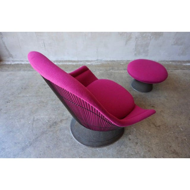 Warren Platner Brozne Easy Chair With Ottoman For Sale In Sacramento - Image 6 of 10