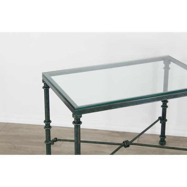 1980s Diego Giacometti Style Iron Side Table, Metal Side Table For Sale - Image 5 of 7