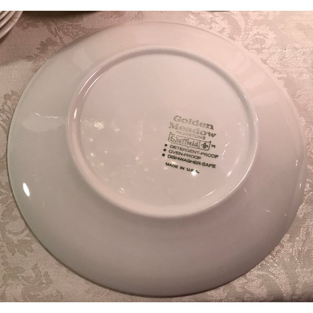 Sheffield Golden Meadow Ironstone Set - 30 Pieces For Sale - Image 10 of 11