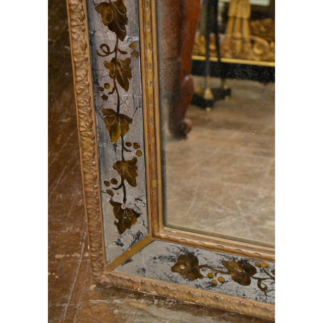 1940s French Jansen Reverse Painted Mirror For Sale In Dallas - Image 6 of 7