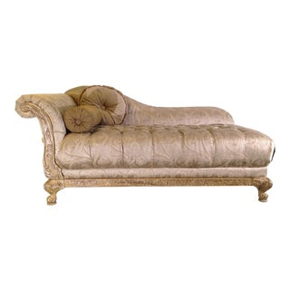 Giltwood Chaise Lounge Chair For Sale