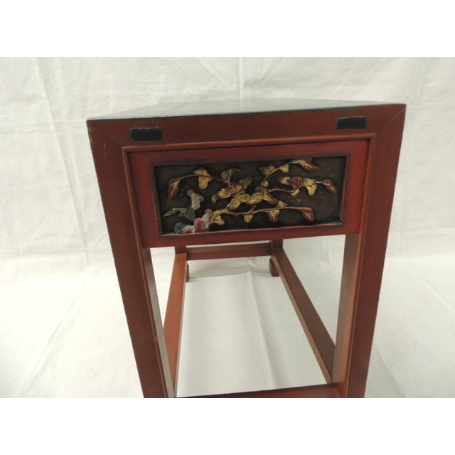 Vintage Chinese Lacquered Side Table - Image 6 of 7