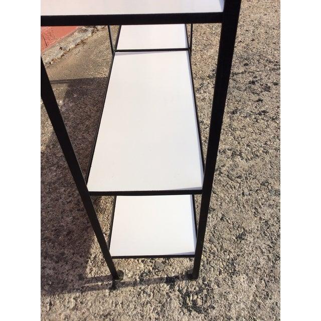 Black Frederick Weinberg Style Wrought Iron Masonite Bookcase For Sale - Image 8 of 9