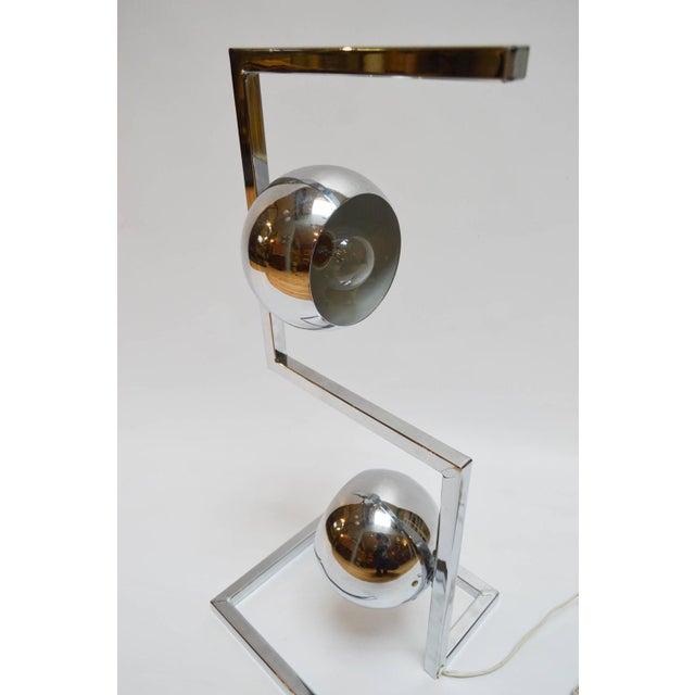 Mid-Century Modern Chrome Eyeball Lamp - Image 7 of 8