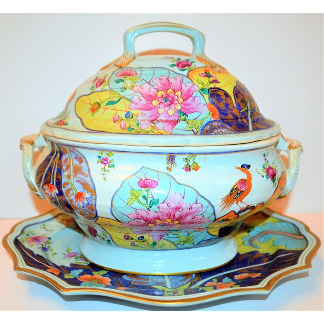 Mottahedeh Mid-Century Mottahedeh Tobacco Leaf Tureen For Sale - Image 4 of 13