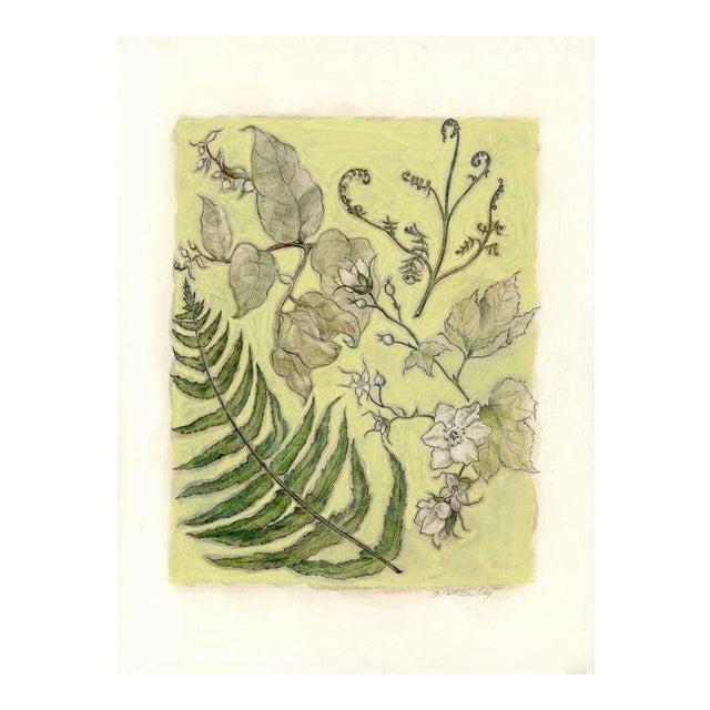 """""""Northwest Botanical III"""" Mixed Media Original Painting For Sale"""