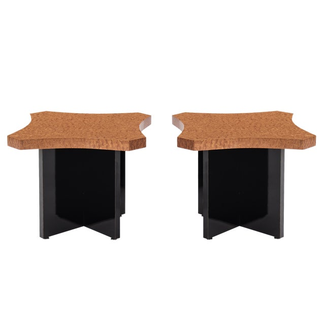 Pair of Roberto Sorrondeguy Side Tables For Sale
